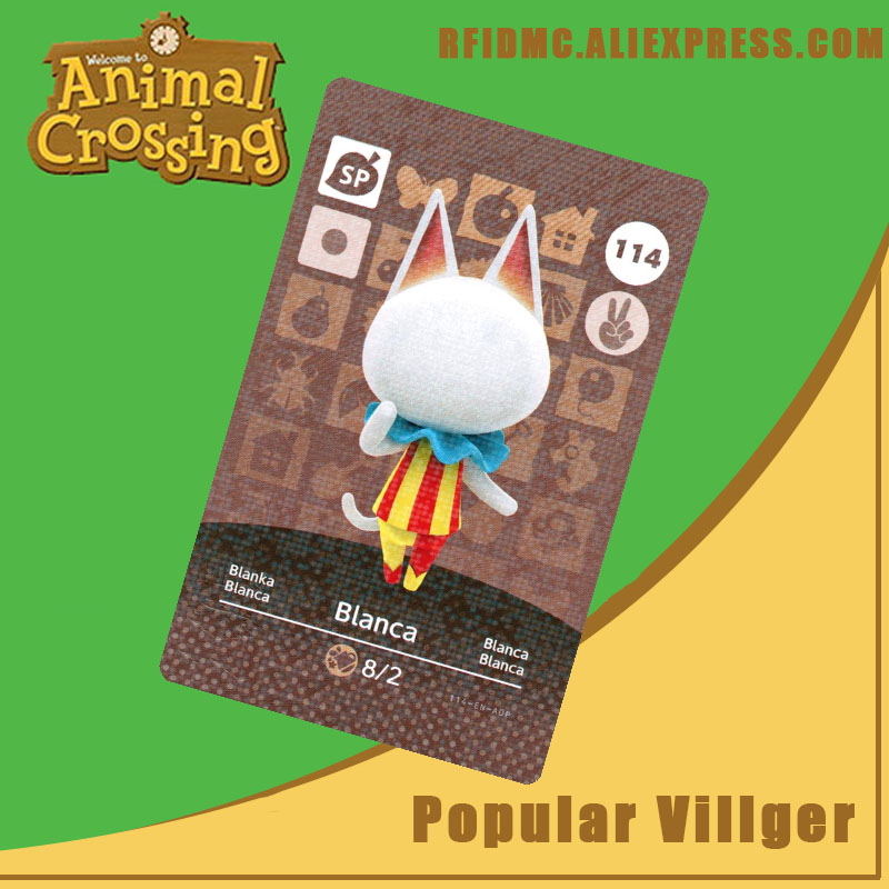 114 Blanca Animal Crossing Card Amiibo For New Horizons