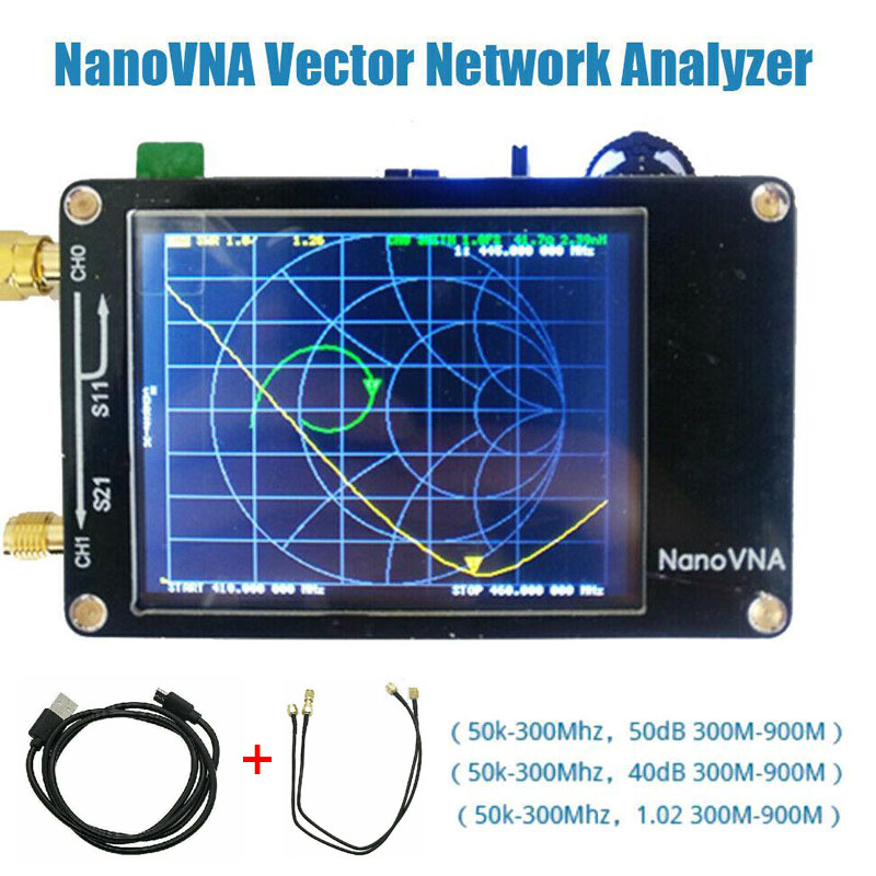 NanoVNA VNA 2.8 Inch LCD HF VHF UHF UV Vector Network Analyzer 50KHz ~ 900MHz Antenna Analyzer Built-in Battery Network Analyzer