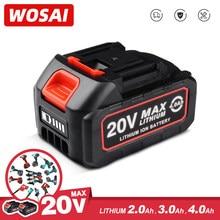 WOSAI – perceuse/scie/tournevis/clé/meuleuse d'angle sans fil, batterie Rechargeable 12V 20V, série Lithium-Ion, outils électriques sans balais