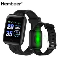 D13 inteligentny zegarek z ciśnienia krwi tętno tracker do monitorowania aktywności fizycznej zegarki sportowe mężczyźni Smartwatch nadgarstek dla android ios w Inteligentne zegarki od Elektronika użytkowa na