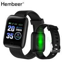 Reloj inteligente D13 pulsera inteligente con ritmo cardíaco, relojes deportivos, rastreador de Fitness, banda inteligente, reloj inteligente resistente al agua para mujer, para Android iOS