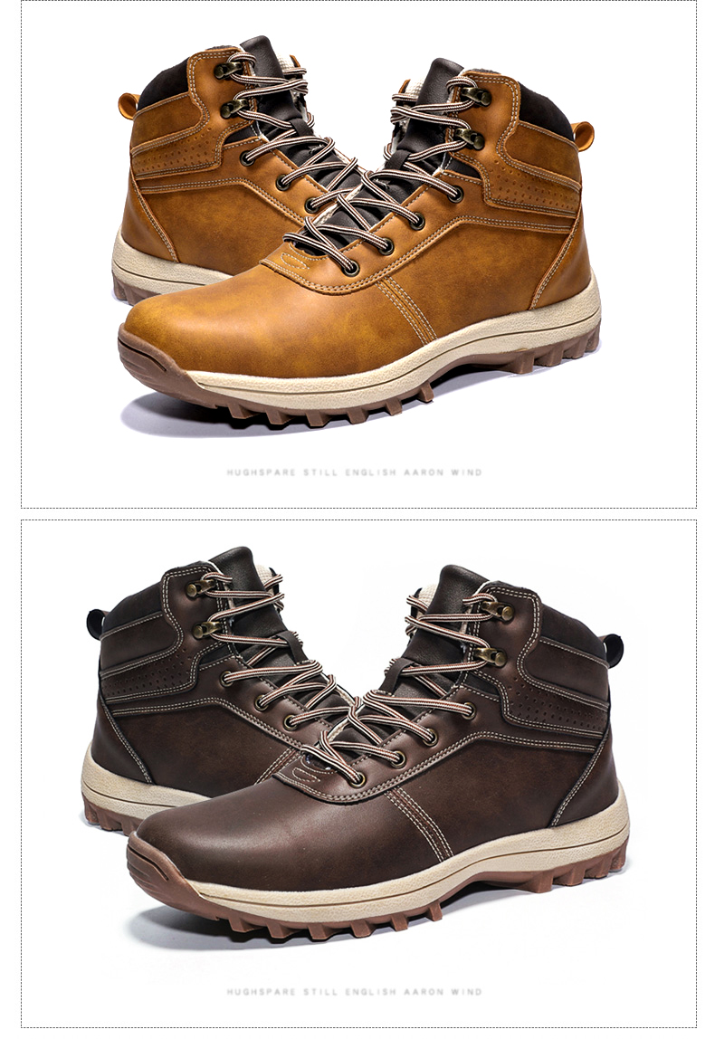 DEKABR Winter Warm Men Boots Genuine Leather Fur Plus Men Snow Boots Handmade Waterproof Working Ankle Boots High Top Men Shoes