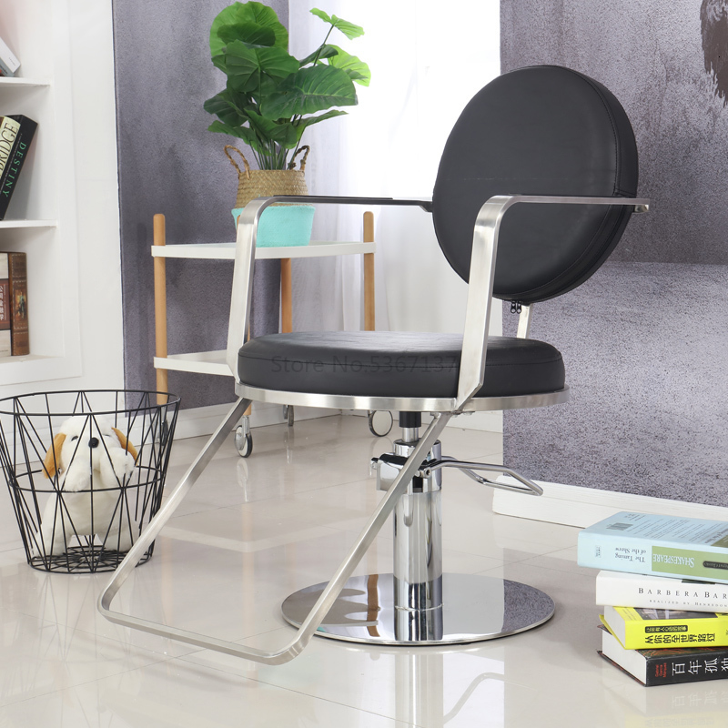 New Simple Ins Wind Stainless Steel Hairdressing Chair Barber Chair Hair Salon Special Haircut Chair