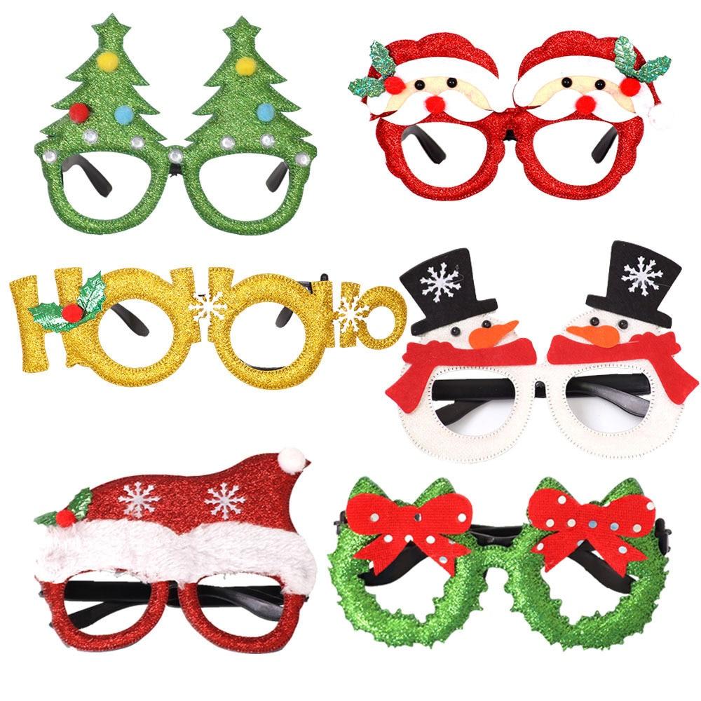 Christmas Decorations Adult Children Toys Santa Claus Snowman Antler Glasses Christmas Decorative Glasses New Wholesale