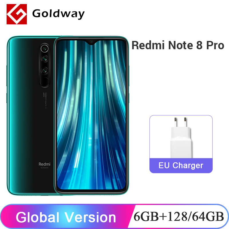 Closeout DealsXiaomi Redmi Note-8 Pro 128GB 6GB GSM/LTE/WCDMA Octa Core New 64GB Smartphone Quad-Camera