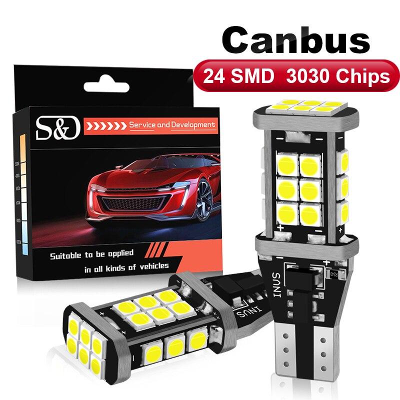 2 шт. супер яркий Canbus Error Free W16W T15 921 912 W16W светодиодный лампы OBC светодиодный запасной светильник светодиодный лампы автомобиля задний фонарь ...