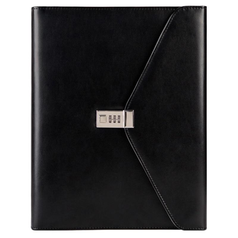 Binder A4 File Folder With Lock Business Manager Password Briefcase File Cabinet Holder Manager Password Briefcase Bag
