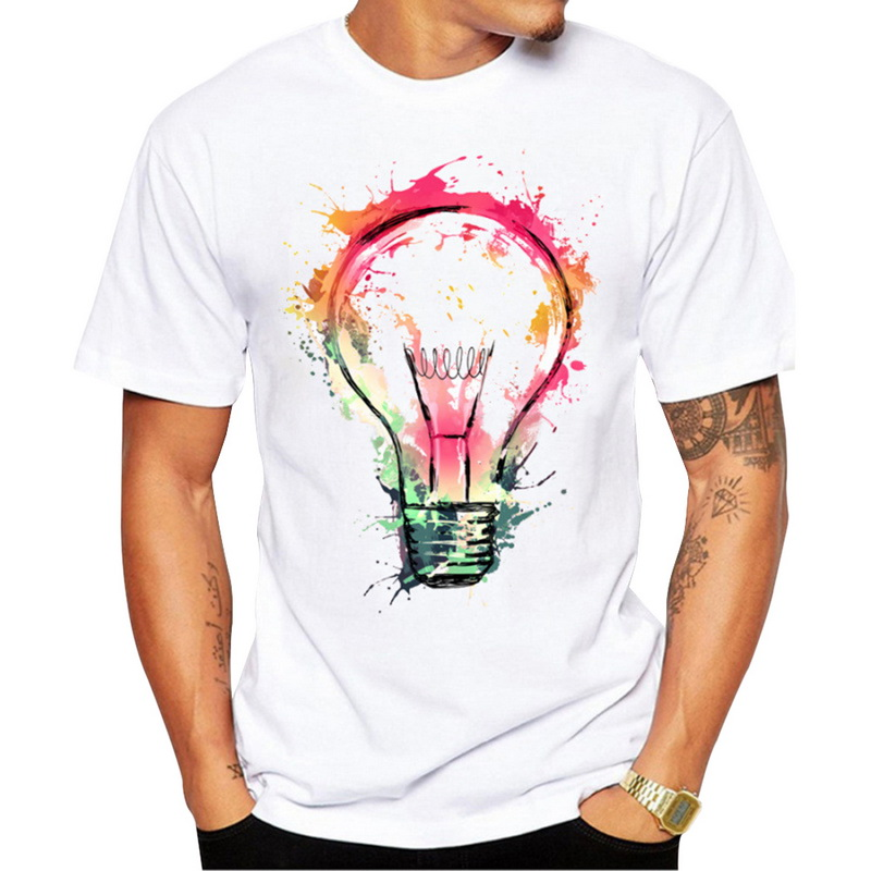 DIHOPE 2020 Quick-dry Tee Tops Men Fashion Printed Tee Top Men's  Sleeve O-Neck Tshirts Fitness SlimBreathable  Top Tees