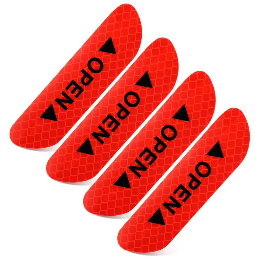 Marque d'avertissement autocollants de porte de sécurité nocturne pour honda vfr 800 bmw m performance citroën c4 vw touran golf mk2 mini cooper r53