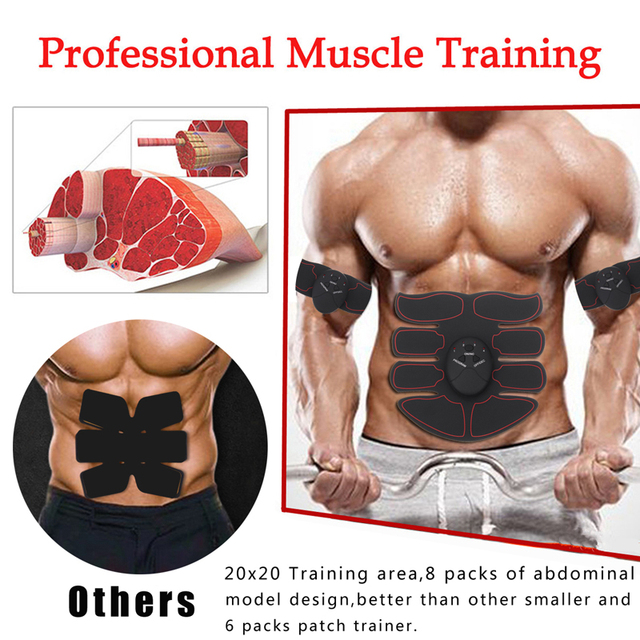 Abdominal Muscle Stimulator Trainer Smart Wireless Abs Stimulator Fitness EMS Muscle Massager Electric Slimming Massage Machine 1