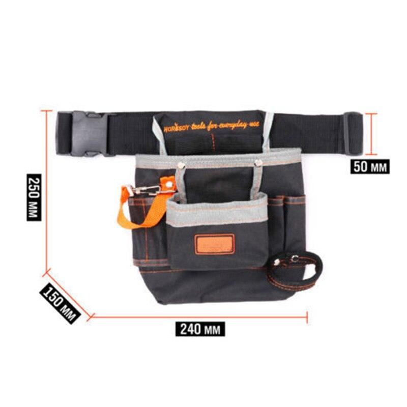 1*Multi-pocket Electrician Tool Holder Belt Utility Pouch Work Waist Buckle Bag~