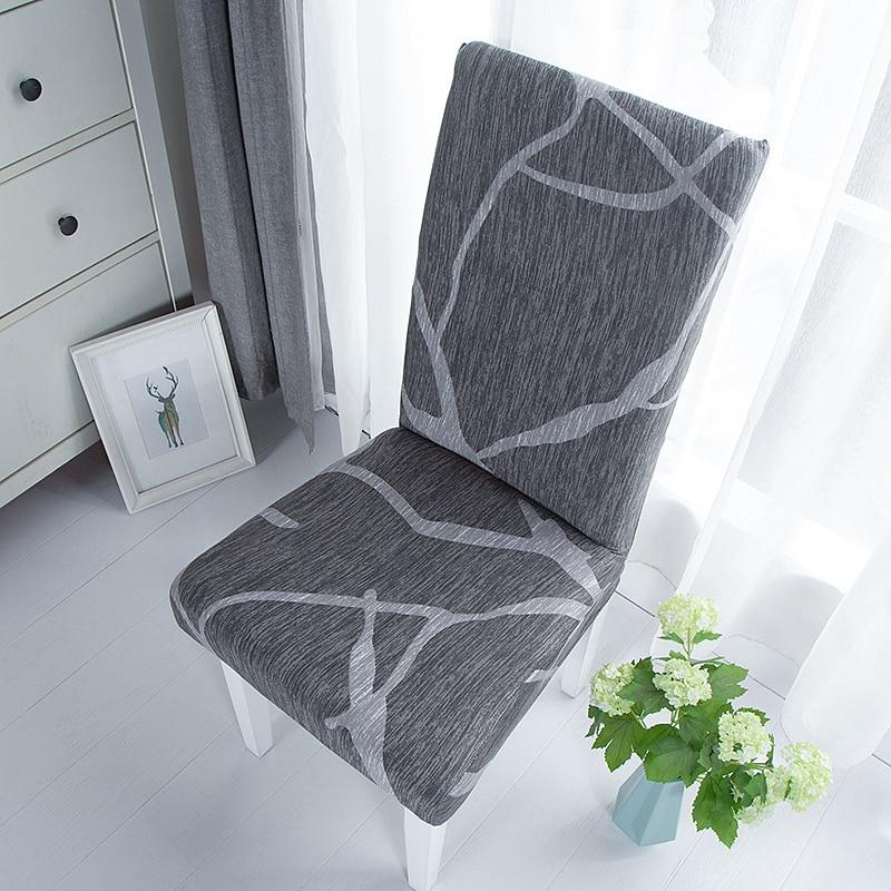 Capa de cadeira de jantar simples elastano elástico cadeira slipcover caso estiramento capa de assento para casamento hotel banquete sala estar