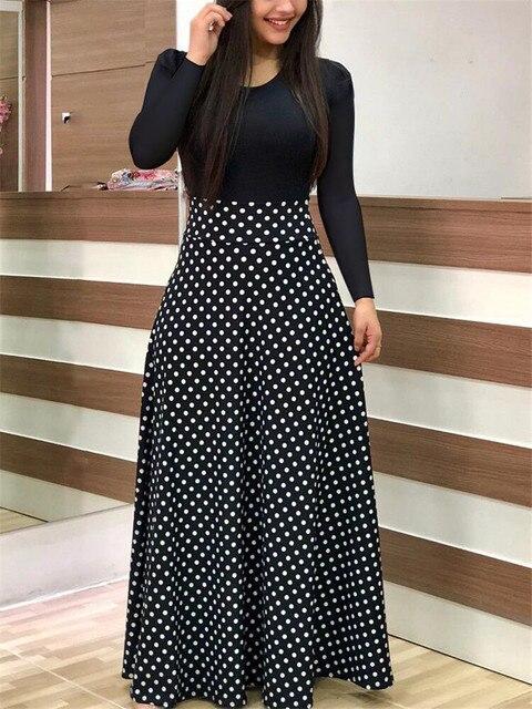 Fashion Casual Maxi Dress Plus Size Bohemian Print Vestidos Mujer Dress Boho Autumn Women Dress Elegant Long Dresses Vestido 5XL 2