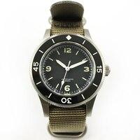 Novo aço inoxidável relógios de mergulho dos homens fiftyfathoms relógio de pulso nh35 movimento 300m resistente à água safira relógio masculino
