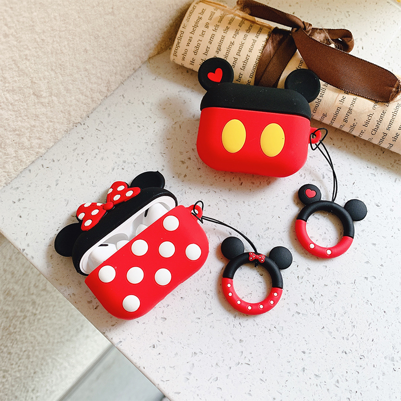 VOZRO Cartoon Wireless Bluetooth Earphone Case For Apple AirPods Pro High Quality Silicone Cases For Airpods 1 2 3 Tective Cover