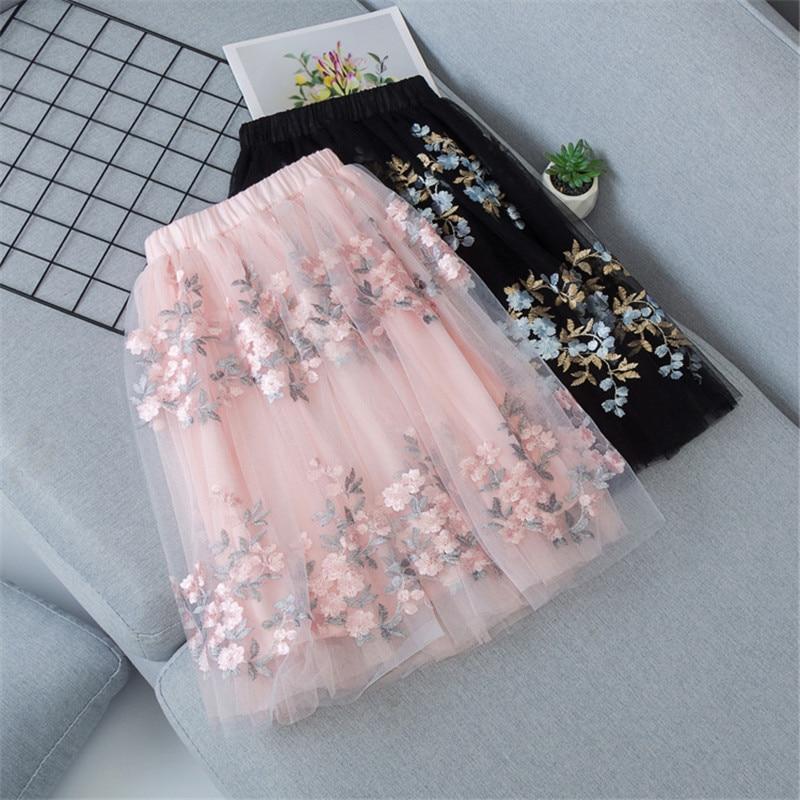 Baby Girls Tutu Layered Skirts Kids Ball Gown 2020 Summer Autumn Solid Long Skirt Girls Princess Skirt Child Clothes