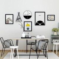 6 Pcs/Set Business Style Photo Frame Wedding Photo Wall Shelf Family Painting Clocks Mariage Picture Frame Decorative Framework