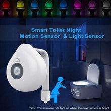 Умная светодиодная Туалет светильник движения pir Сенсор ночника