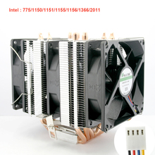6 Heat Pipe 4-Wires cooling Fan Cpu Fan Radiator Cooler Heat Sink  For AMD FM1/FM2+/AM2+/AM3+ Cooler кулер id cooling se 214l r intel lga 2011 1366 1151 1150 1155 1156 amd fm2 fm2 fm1 am4 am3 am3 am2 am2