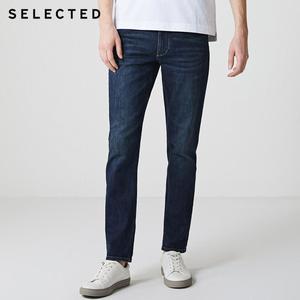Image 1 - Выбранные мужские джинсы из лайкры легкий стрейч винтажный Тонкий Осень и зима подходят джинсовые брюки уличная эффект усов S