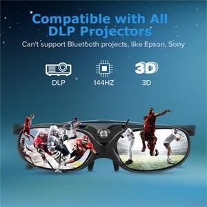 Image 5 - 2 sztuk aktywna migawka 96 144HZ akumulator 3D okulary dla BenQ Acer X118H P1502 X1123H H6517ABD Optoma JmGo V8 XGIMI projektor