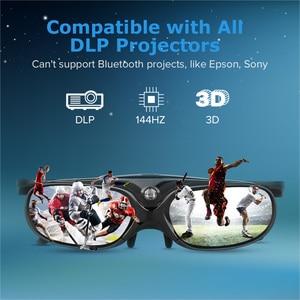 Image 5 - 2Pcs Universal Dlp Actieve Sluitertijd 3D Bril 96 144Hz Voor Xgimi Optoma Acer Viewsonic Home Theater Benq dell Projector 3D Tv