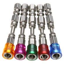 цена на 5pcs 65mm Anti-Slip Electric Magnetic Screwdriver Bit S2 PH2 Single Head Screw Driver Bits Mayitr 1/4 Hex Shank Hand Tools