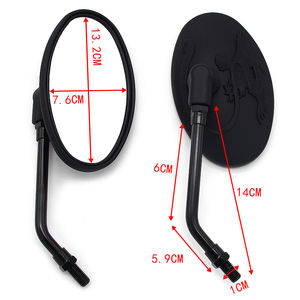Motorcycle rearview mirror 10mm side mirror for Kawasaki EL250 EN400 EN450 EN500 VN250 VN400 Vulcan Classic VN750 VN800 VN900|Side Mirrors & Accessories|Automobiles & Motorcycles -