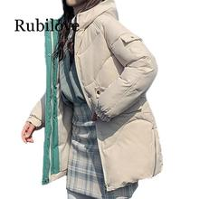 Rubilove 2019 Women Winter Jackets Down thickening hooded  down parka padded jacket female