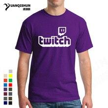 Twitch Tv T shirt Purple Gaming Top Gamer Tee Fathers Day Fan Gifts Short Sleeve Men Tops 17 Colors Unisex T Shirt Free ShippingT-Shirts