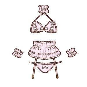 Image 5 - Womens Sexy Costume Lolita Cute Maid Uniform Kawaii Anime Bikini Set Temptation Erotic Underwear Costume Cosplay