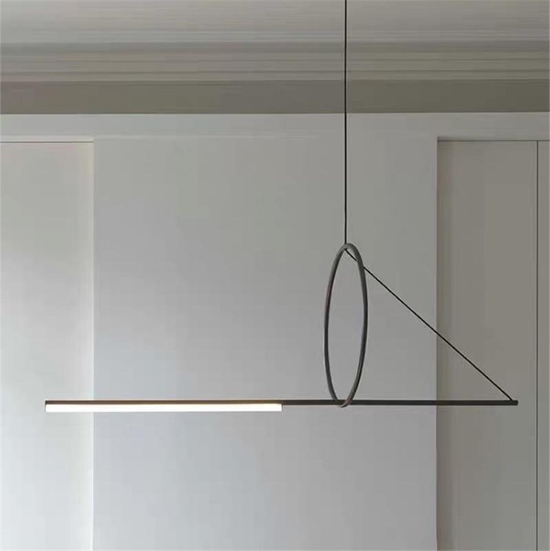 Iron Art Line Pendant Lights Restaurant Dining Room Living Room Post-modern Creative Pendant Lamp Designer Simple Light Fixtures