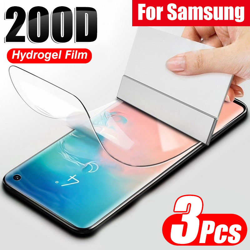 Hydrogel-Film Protective S9 Full-Curved-Screen Note 8 S10-Lite 9 no-Glass Samsung