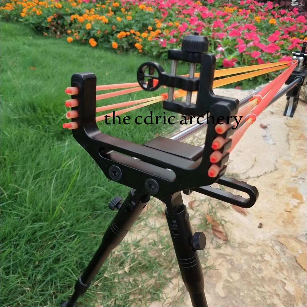 Kuat Ketapel Berburu Slingshot Senapan Double Safety Device Stainless Steel Sight Dukungan 12BB Bola Shooting Outdoor