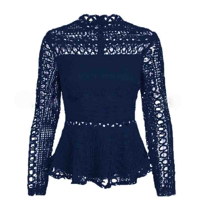 Elegant Lace Hollow Out Blouse 6