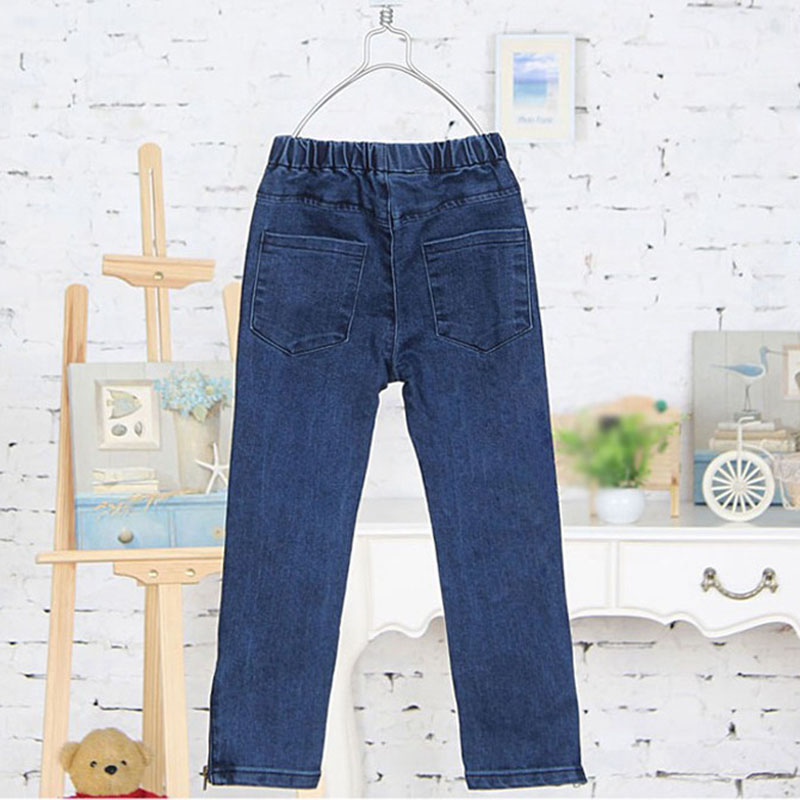 Spring Autumn Girls Jeans Children's Clothing Kids Cat Embroidered Jeans Kids for 3-12 Years 6