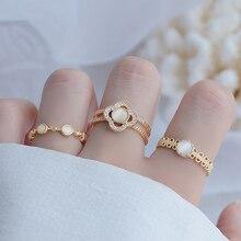 4 Styles Korean Micro Inlaid Zircon Cat Eye Ring Open Design Charm 14K Real Gold Bague Date Praty Brithday Gift Jewelry Pendant