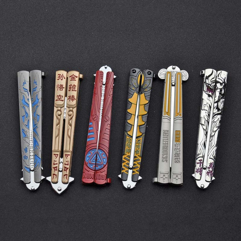 Anime Game Butterfly Knife Throwing Knife Training Tool Alloy Knife Not Edged Chinese Animation Game Peripheral Toy Knife