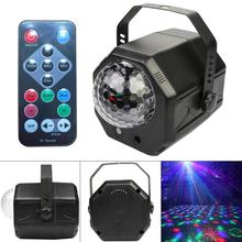 RGB LED Crystal Disco Magic Ball with RG Laser Projector DJ Party Holiday Bar Christmas Stage Lighting Effect  Voice Control rgb led water wave rg stage laser northern lights effective dj lighting