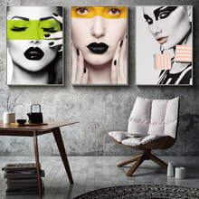 Modern Girl Posters and Prints Wall Art Fashion Beautiful Woman Canvas Painting Nordic Picture for Living Room Decorative