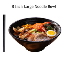 8 Inch Creative Japanese Ramen Instant Noodle Bowl Large Ceramic Salad Bowl Fruit Dish Soup Spaghetti Pasta Microwave Tableware 5 6 8 inch japanese cherry blossom ceramic ramen bowl large instant noodle rice soup salad bowl container porcelain tableware