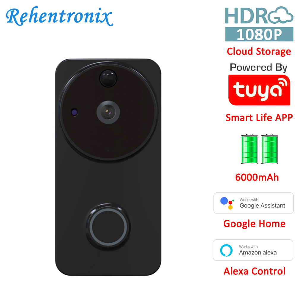 Tuya Smart Video Doorbell Wireless Home WiFi Security Alexa Google Chromecast Voice Control Smart Life Doorbell Cloud Camera