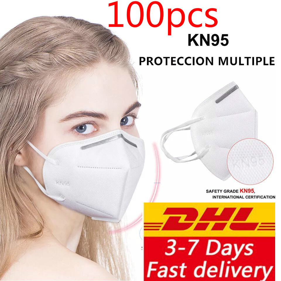 Face Masks 95% Filtration Mouth Masks 4-Layer Mouth Muffle Cover Dhl Free 100pcs Dustproof Anti-fog And Breathable
