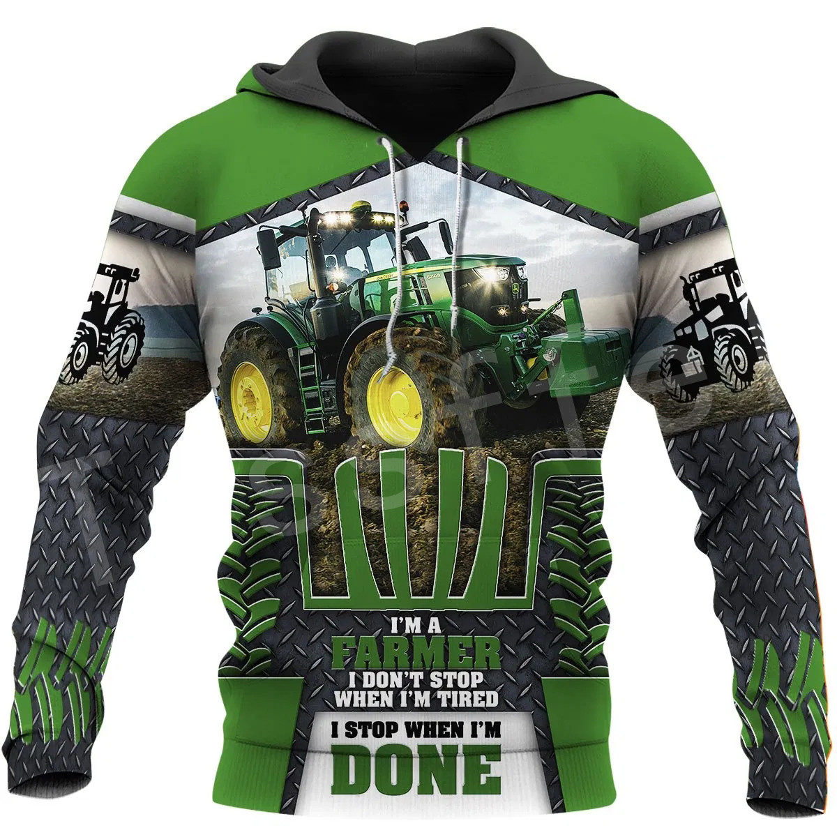 Tessffel Worker Farmer Tractor Instrument Funny NewFashion Long Sleeves 3DPrint Zipper/Hoodies/Sweatshirts/Jacket/Men/women A-11