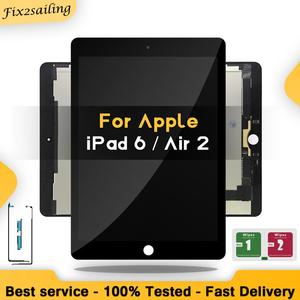 """9.7"""" Lcds For Apple Ipad Air 2 ipad 6 A1567 A1566 Lcd Touch Screen Digitizer Panel Assembly Complete +Adhesive(China)"""