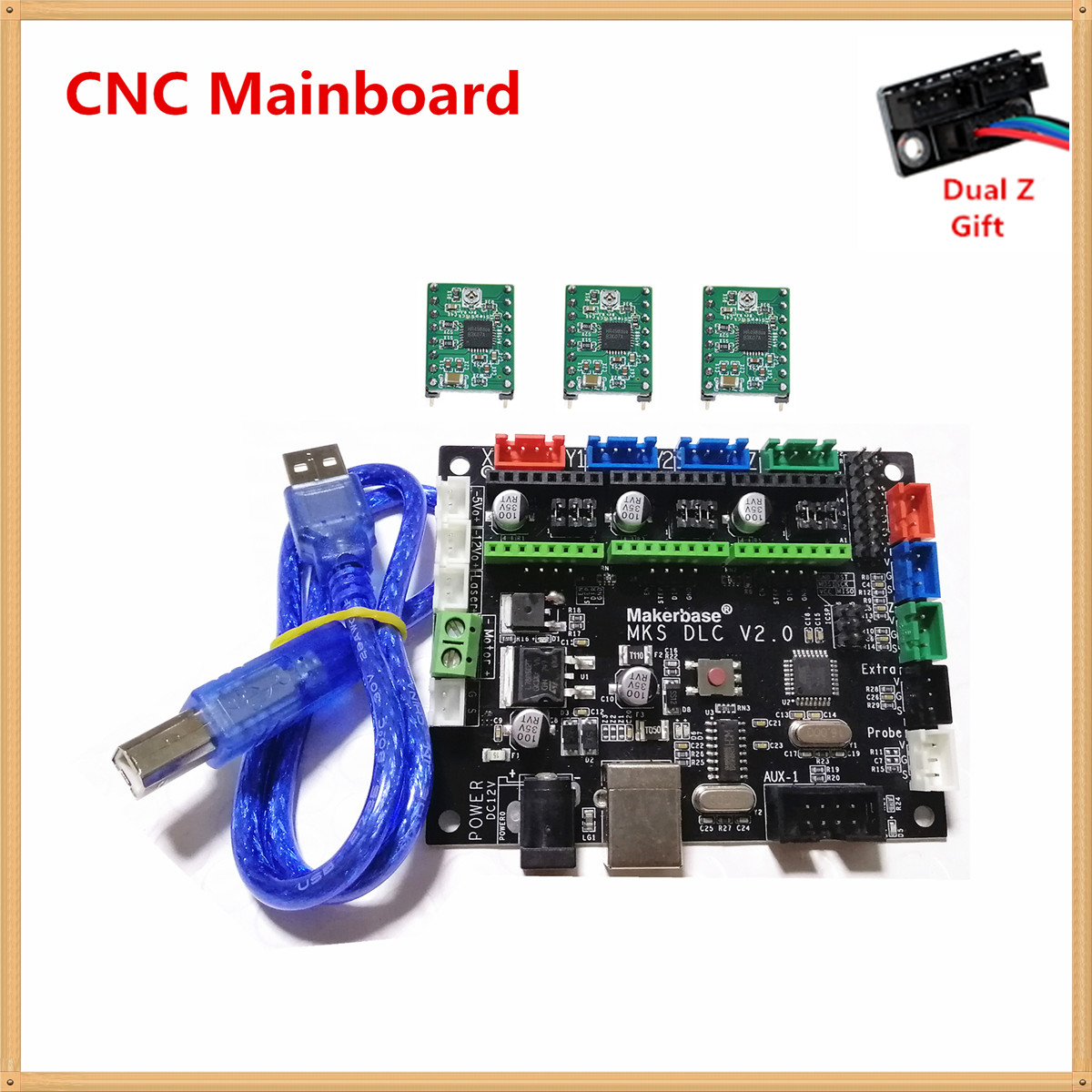 GRBL 1 1 CNC controller MKS DLC v2 0 GRBL breakout plate 3 axis stepper laser driver motherboard CNC engraving machine monitor