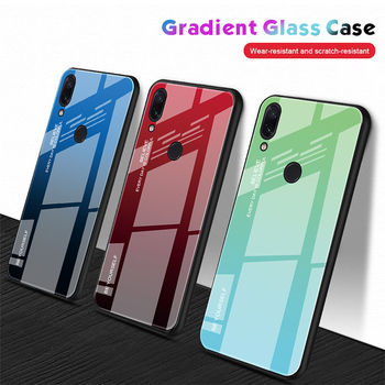 Etui ze szkła hartowanego do Xiaomi Redmi Note 7 6 K20 Pro błyszczące barwione kolorowe etui do Redmi 7 6A 6 Pro 5 Plus tanie i dobre opinie KORFABOM Aneks Skrzynki Gradient Stained Glossy Colorful Tempered Glass Case Mi 6 Mi 5c 4X Redmi Nocie Redmi Note 4 Mi Max 2
