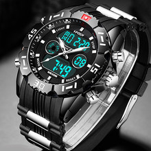 Fashion Sport Super Cool Men's Quartz Digital Watch Men Sports Watches HPOLW Luxury Brand LED Military Waterproof Wristwatches(China)