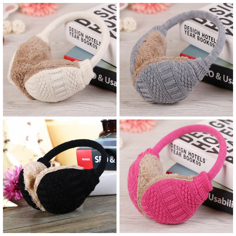 Plush Winter Ear Warmers 2019 New Warm Ear Muffs Winter Knitted Earmuffs For Women Winter Ear Protector Cover