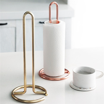 Kitchen Vertical Roll Paper Rack Punch-free Storage Towel Holder Home Table Accessories Stainless Steel Tissue Paper Hanger novel stainless steel triangular paper towel holder rack restaurant vertical napkin clip dining table decoration